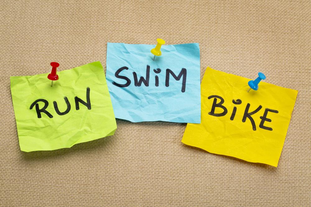 Doing a triathlon as a team