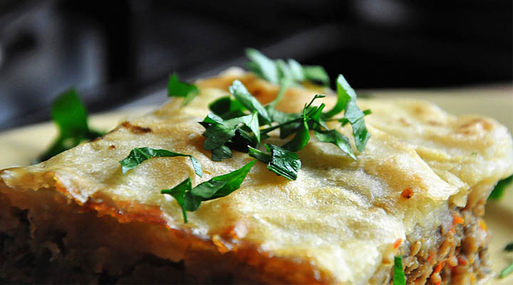 Vegetarian sheperd's pie