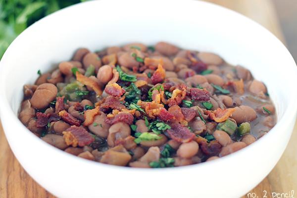 Homemade Mexican beans